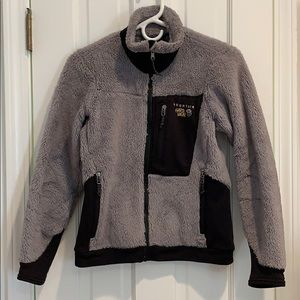 Mountain Hardware zip up gray fleece